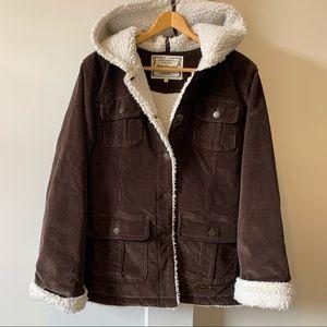 BUM Corduroy Sherpa Hooded Jacket